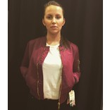 Women AC Bomber Jacket Bordeaux