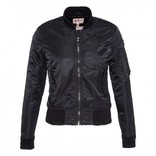 Women AC Bomber Jacket Black