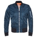 Men AC Bomber Jacket Navy